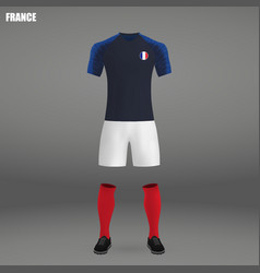 Football kit of france 2018 vector