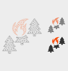 forest fire mesh network model and triangle vector image