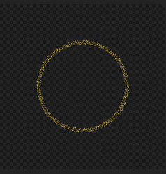 golden sparkles ring vector image
