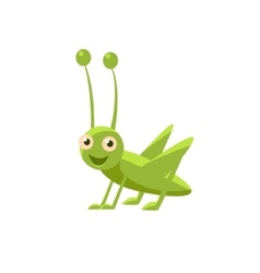 Happy Grasshopper Icon vector