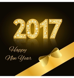 Happy New Year 2017 New Year 2016 Gold numbers vector image