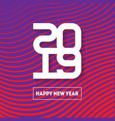 Happy new year 2019 brochure design template vector