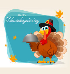 happy thanksgiving thanksgiving turkey vector image