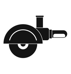 high speed cut off machine icon simple vector image