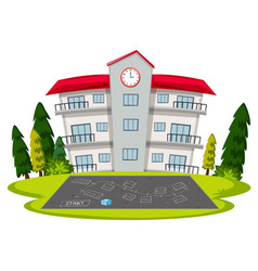 Isolated school building template vector