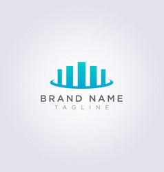 Logo design from a combined bar chart symbol with vector