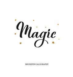 Magic brushpen modern calligraphy vector
