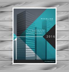 modern blue professional brochure flyer design vector image