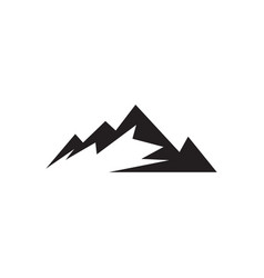 Mountain graphic design template isolated vector