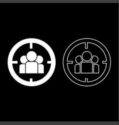 People in target or target audience icon set vector