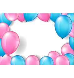 pink and blue balloons vector image