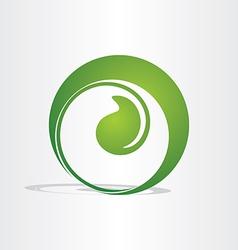 Plant birth growing eco design vector