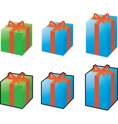 Present icon set vector