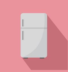 retro fridge icon flat style vector image