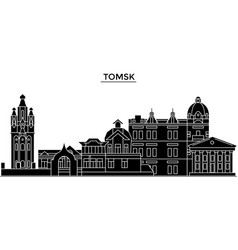 Russia tomsk architecture urban skyline with vector