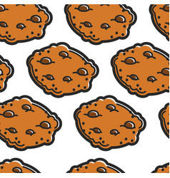scottish cuisine chocolate cookies seamless vector image