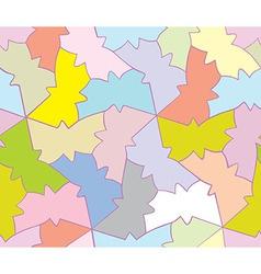 seamless butterfly pattern geometric shape vector image