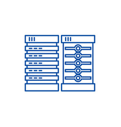 servers line icon concept servers flat vector image