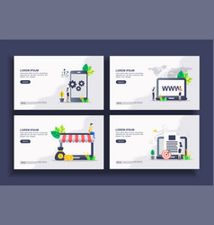 Set modern flat design templates for business vector