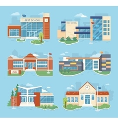 Set of School Buildings vector image