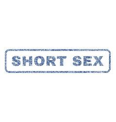 Short sex textile stamp vector