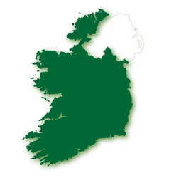 Silhouette map of eire vector