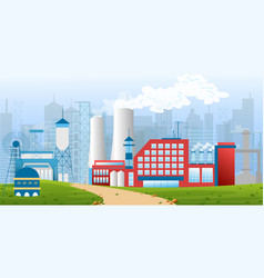 Stock of an industrial zone vector
