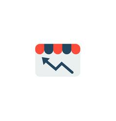 store statistics icon flat element vector image
