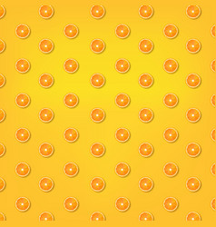 summer yellow background with orange vector image
