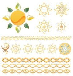 Sun pack vector