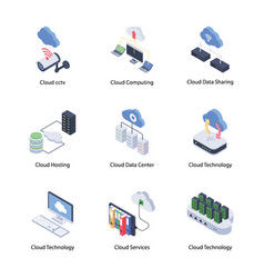 Travelling isometric icons vector