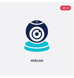 two color webcam icon from blogger and influencer vector image