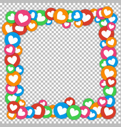 valentines day frame with scattered color vector image