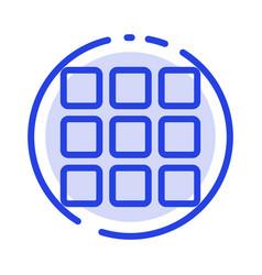 web grid shape squares blue dotted line line icon vector image