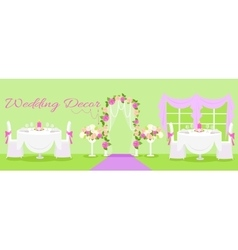 Wedding decor fashion interior vector