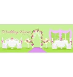 Wedding decor fashion interior vector