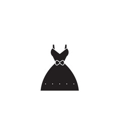wedding dress black concept icon wedding vector image
