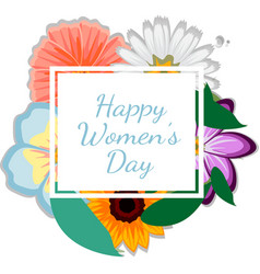 womens day geometric background with beautiful vector image