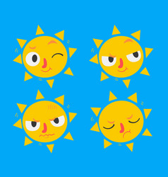 cute sun set vector image