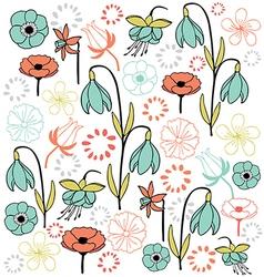leaf flower set 4 pastel color vector image vector image
