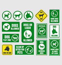 pet friendly icons dog allowed sign vector image