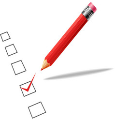 Checklist with pencil white backgroun vector image vector image