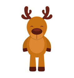 cute deer character icon vector image