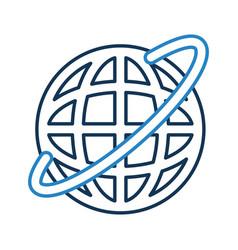 global internet updating vector image