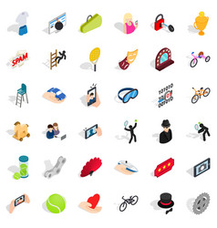 hand icons set isometric style vector image vector image