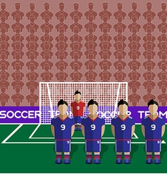 Japan Soccer Club Penalty on a Stadium vector image vector image