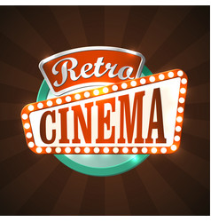 retro cinema vector image