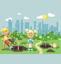 cartoon characters of children vector image vector image