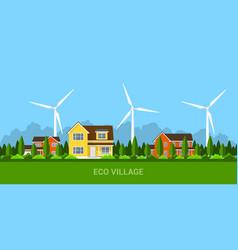 eco village concept vector image vector image