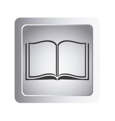 gray book open icon vector image